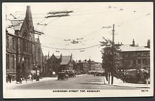 YORKSHIRE - RP POSTCARD - KEIGHLEY, CAVENDISH STREET - LOCAL PUBLISHER - 1932