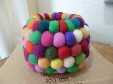 Felt So Good Storage Bowl Multi Colour Felted Balls Home Gift Decor Fair Trade