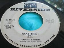 Rare Jazz 45 : Johnny Griffin ~ Grab This ~ Part I & II ~  Riverside 45476 Promo