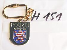 Polizei Schlüsselanhänger Hessen Wappen grün (h151-)