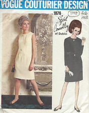 "1968 Vintage VOGUE Sewing Pattern DRESS B36"" (1178) By 'Sybil Connolly'"