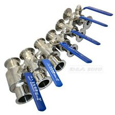 19MM Sanitary Full Port Ball Valve Clamp Type Ferrule Stainless Steel SS SUS 304
