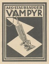 Y6697 AEG Staubsauger VAMPYR -  Pubblicità d'epoca - 1929 Old advertising