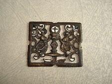 Sujet Religieux Eucharistie Bronze ancien et Email
