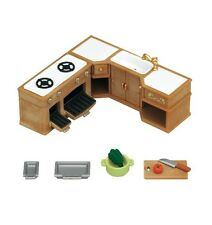 Sylvanian Families Kitchen Stove, Sink and Counter Set