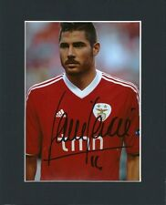 JAVI GARCIA HAND SIGNED MOUNTED AUTOGRAPH PHOTO & COA