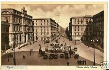 cm 195 1937 NAPOLI Piazza della Borsa - viagg FP Ed.Carcavallo Napoli