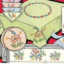 Hand Embroidery Transfer 664 Poppies for Table Cloth Pillow Case Napkin Scarf