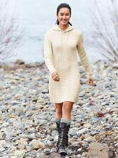 NWOT Athleta Coldspell Sweater Dress, Ivory SIZE L        #152608  $148