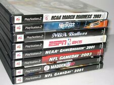 8 SONY PS2 PLAY STATION VIDEO GAMES - NFL NCAA MADDON MBA ESPN ETC.