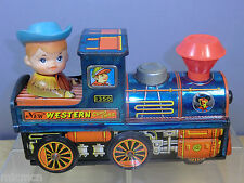 "VINTAGE TINPLATE  BATTERY OPERATED"" KANTO TOYS No1350 "" NEW WESTERN "" CHOO CHOO"""