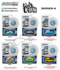 GREENLIGHT CLUB V-DUB SERIES 4 ASSORTMENT Set Of 6 Volkswagen 1/64 DIECAST 29860