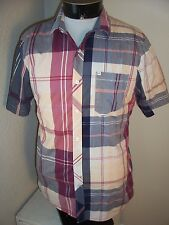 VOLCOM brand mens Large L slim-fit Button-up shirt
