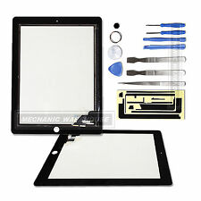 Black Touch Screen Digitizer Frontale Vetro Lente Per iPad 2 iPad2 Open Tool Kit UK