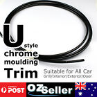 2M x 6mm Car Black Chrome Moulding Trim Strip F. Edge Door Grille Window Bumper