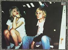 COURTNEY LOVE & KURT COBAIN - 1999 full page magazine poster HOLE NIRVANA