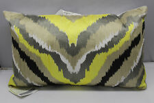Trina Turk Ikat 12x20 Yellow Embroidered Decorative Pillow Multi-Color  Abstract