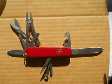 A Victorinox Deluxe Tinker Swiss Army knife in red - with hook but no pin