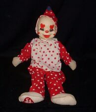 VINTAGE GUND J SWEDLIN CLOWN DOLL RUBBER FACE STUFFED ANIMAL PLUSH TOY ANTIQUE