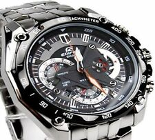 Imported Casio Edifice Luxury Men's Watch EF-550-1AV BLACK CHRONOGRAPH
