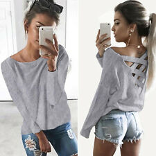 Fashion Womens Casual Long Sleeve Hoodie Jumper Tops Sweatshirt Pullover Shirt