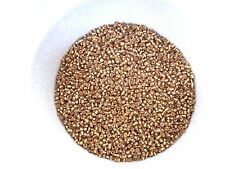 100g 2mm 11/0 Glass Seed Beads - GOLD SILVER LINED