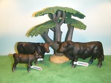 SCHLEICH BLACK ANGUS BULL #13766 COW #13767 & CALF #13768 *NEW* IN PLASTIC