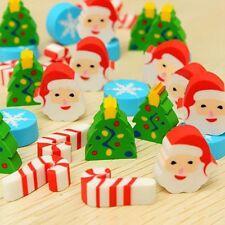 35Stk Weihnachten Geschenk Radiergummi Gummi Eraser Weihnachtsmann Set Dekor FS