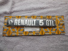 Renault 5 GTL Tailgate Badge Upto 1981 New Genuine 7700617295