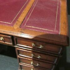 SALE ~ 1/12  doll house miniature writing desk by Tarbena with red leather top