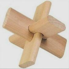 Interlocking Cross 3D Wooden Brain Teaser Mind Bend Puzzle Jigsaw Hard XG