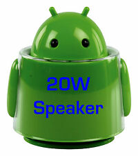 Loud 20W Portable Speaker GREEN - Connects to Phone / iPod / MP3 Player / Tablet