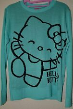 Hello Kitty Sanrio Mint Long Sleeve Acrylic Women Sweater Size L