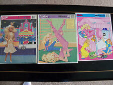 3 BARBIE GOLDEN FRAME TRAY PUZZLE'S
