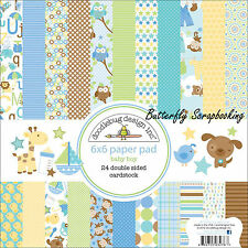 Baby Boy Snips & Snails Scrapbooking 6x6 inch Paper Pad Doodlebug 24 Sheets NEW