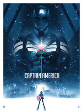 He's Fast... Poster - Patrick Connan - Artist Proof - Captain America