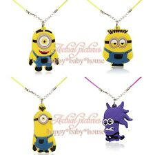 New 20PCS Dispicable Me Minions Cartoo PVC Chain Necklace Kids PARTY favour gift