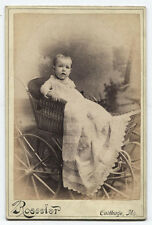 CABINET CARD CUTE BABY IN REALLY COOL STROLLER. CARTHAGE, MO.