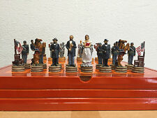 CIVIL WAR THEMED  CHESS SET 32  pieces BEAUTIFUL AND UNIQUE