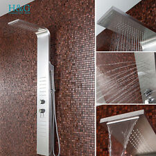 Modern wall Stainless Steel Column Thermostatic Mixer Shower Tower Massage Panel