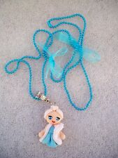 COLLANA CIONDOLO IN FIMO FATTO A MANO CARTOON ELSA FROZEN
