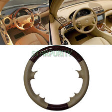 Leather Wood Steering Wheel Cover Mercedes 03-09 W209 CLK SL CLS 06-09 W211 E