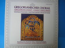 LP GREGORIANISCHER CHORAL CANTI GREGORIANI CHRISTMAS NASSES PATER GODEHARD