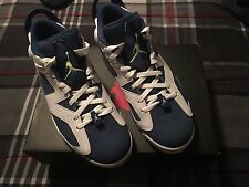 Nike Air Jordan Retro 6 Low Seahawks 304401 106 White Ghost Green Blue Sz 11 Men