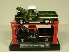 M2 Machines AUTO LIFT 1:64 Pickup truck 1959 GMC & 1959 Chevrolet Apache  2 PACK