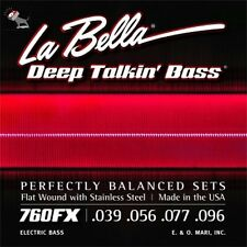 La Bella 760FX Extra Light FlatWound 4-String Electric Bass Guitar Strings 39-96
