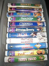 LOT OF 23 Disney Children's VHS Movies Clamshell Masterpiece Universal Barbie