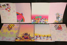 Vintage Lisa Frank Stationery Paper 8 Sheet Collection Rare Prints
