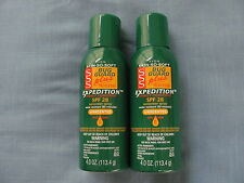 LOT OF 2 AVON BUG GUARD PLUS IR3535 EXPEDITION SPF28 - 4 OZ. AEROSOL-FREE SHIP