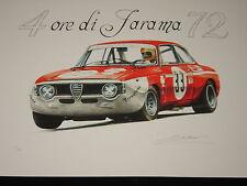 ALFA ROMEO GTA 1972   4 H EURES DE JARAMA tirage numéroté et signé